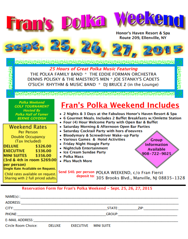 Frans Polka Weekend 2015