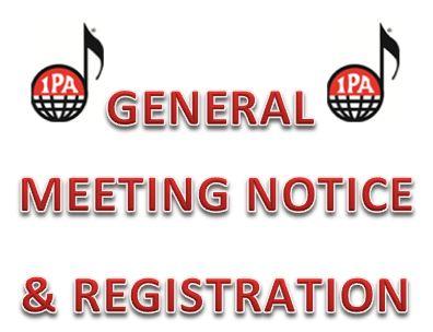 IPA General Meetings